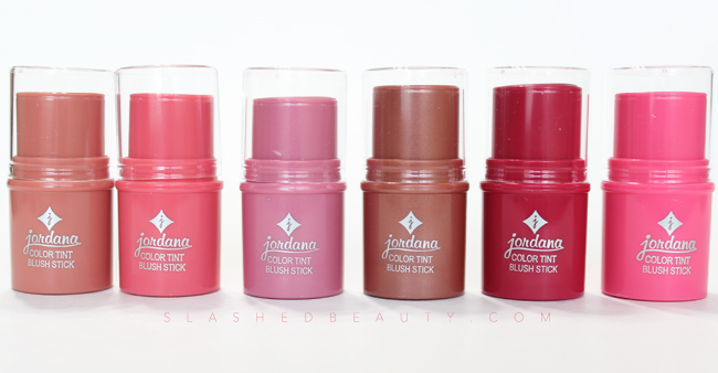 Jordana just released six new shades of their color tint blush sticks