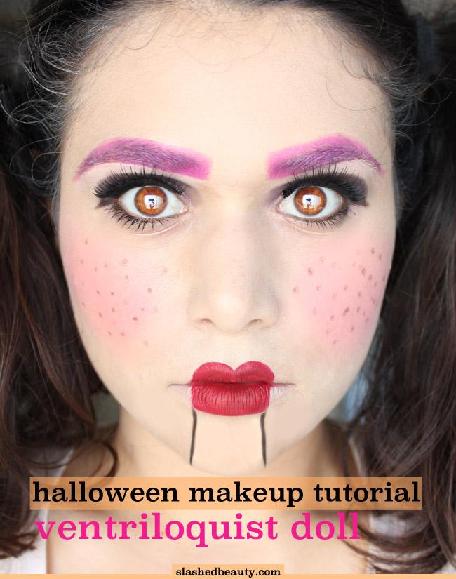 Ventriloquist Doll Halloween Makeup Tutorial