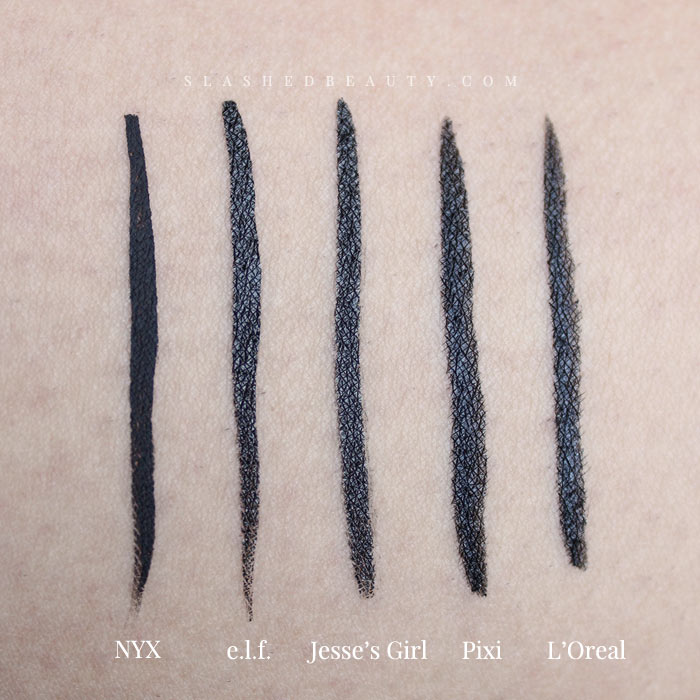 These 5 eyeliners are the best drugstore liquid liners out there right now! Find out why. | Slashed Beauty