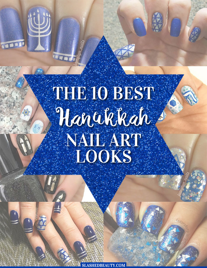 Check out the ten best Hanukkah nail art looks from Instagram! | Slashed Beauty
