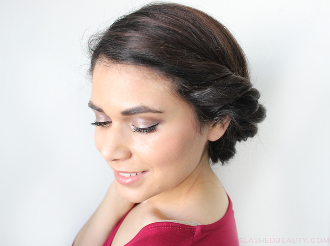 Date Night Hair: Twisted Low Roll Updo Tutorial | Slashed Beauty