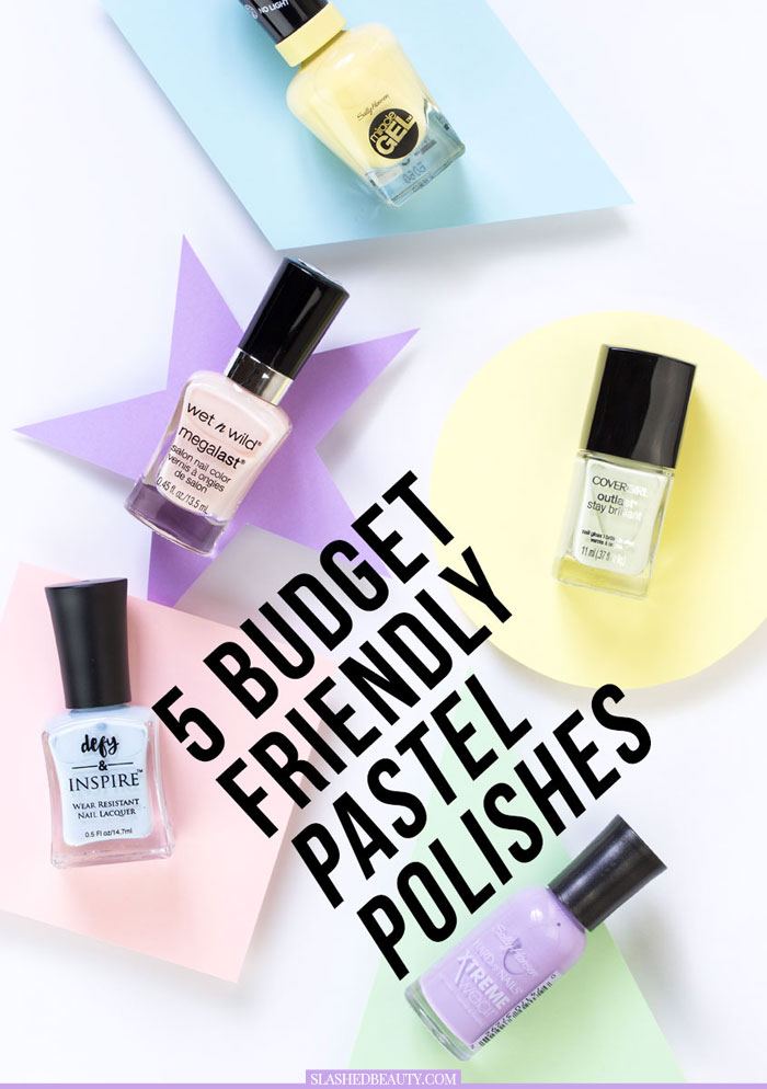 Discover these five light and bright pastel drugstore nail polishes for spring and summer! | Slashed Beauty