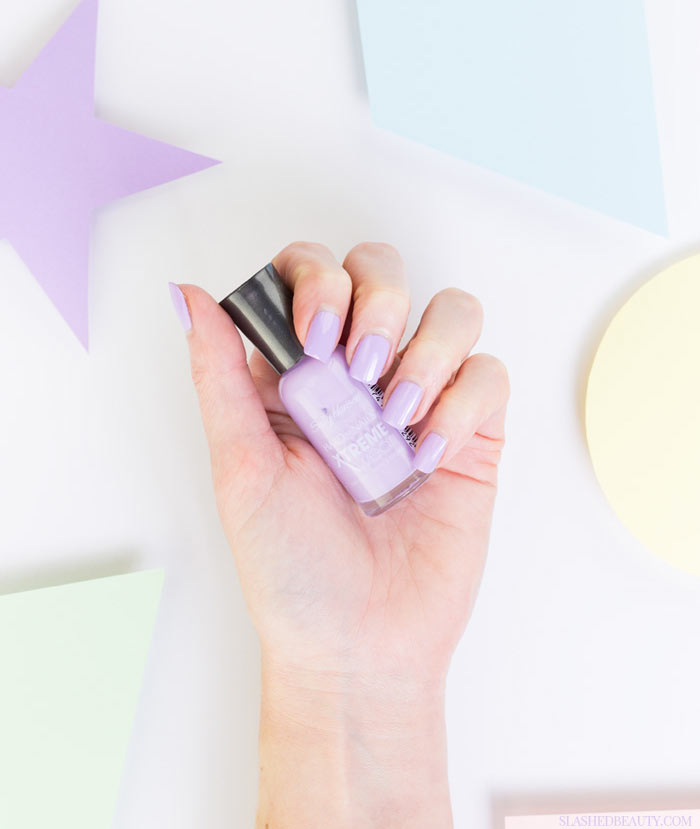 5 Pastel Drugstore Nail Polishes You Need Right Now: #3 Sally Hansen Hard as Nails Xtreme Wear Lacey Lilac