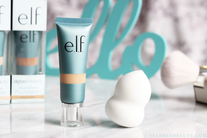 The new e.l.f. Aqua Beauty Mousse Foundation gives you radiant coverage with a lightweight feel. See a before & after and read the full review to see how it's different than its description!   Slashed Beauty