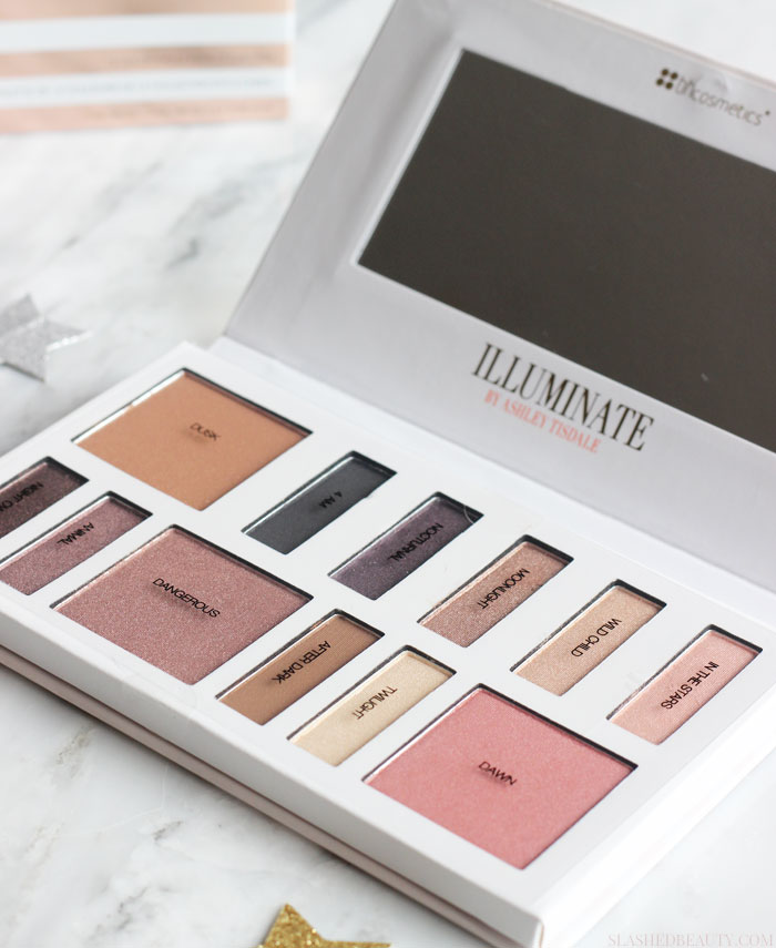 See swatches of the Illuminate by Ashley Tisdale Night Goddess Palette and why it's awesome for makeup lovers who don't have time! | Slashed Beauty