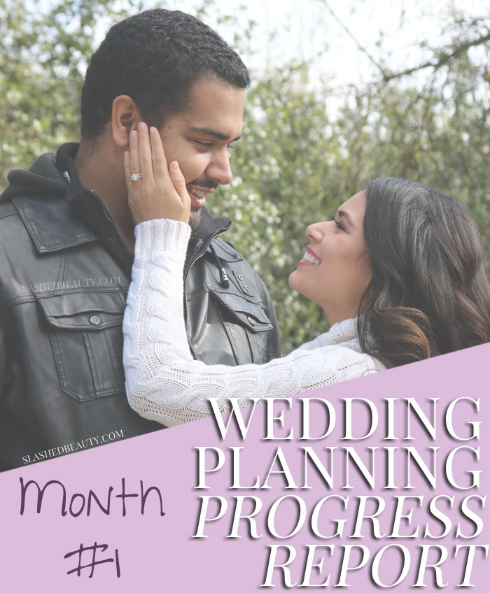 Follow along as I plan my fall wedding in the mountains! See how far I am after one month of serious wedding planning. | Slashed Beauty