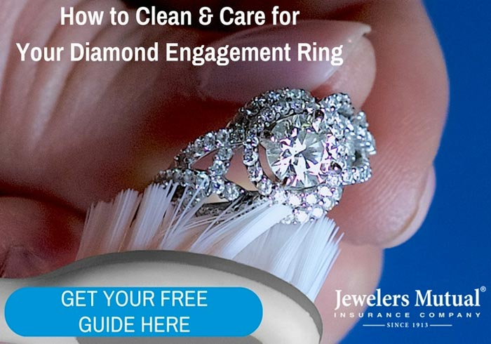 Learn all the best tips to keep your engagement ring safe and sparkling, and how to care for it! | Slashed Beauty