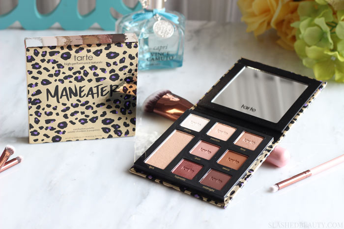 See why the new Tarte Maneater Eyeshadow Palette is completley worth picking up... at only $29!! See swatches and get up close and personal with the shades. | Slashed Beauty