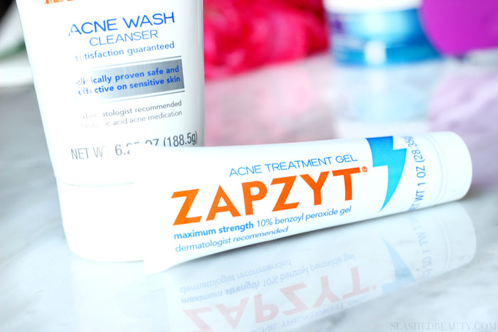 Find out why we get period acne-- why stubborn pimples appear and how to treat them -- I'm using ZAPZYT!   Slashed Beauty